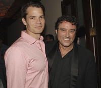 Timothy Olyphant and Ian McShane at the after party of the premiere of