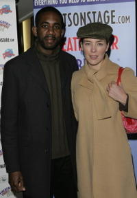 Olivia Williams and Rhashan Stone at the Theatregoers Choice Awards 2006.