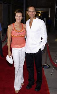 Chelsea Field and Scott Bakula at the premiere of