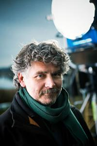 Director Daniel Alfredson on the set of