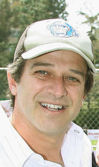 Allen Covert at the California pre-premiere softball game of