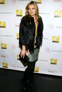 Kate Moss at the Sam and Ruby Charity Benefit.