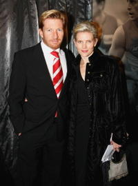 David Wenham and Kate Agnew at the Sydney Swans Anniversary Dinner.