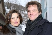 Colin Firth and Linda James at the 2008 Sundance Film Festival.