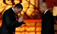 Laurence Fishburne and Cuba Gooding Jr. at the Film Life's 2006 Black Movie Awards.
