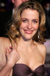 Gillian Anderson at the Vanity Fair Oscar Party.
