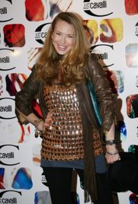 Yvonne Scio at the Just Cavalli cocktail party.