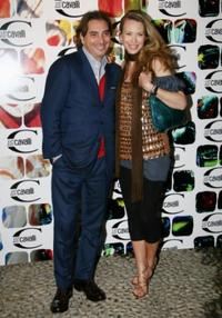 Stefano Dammicco and Yvonne Scio at the Just Cavalli cocktail party.