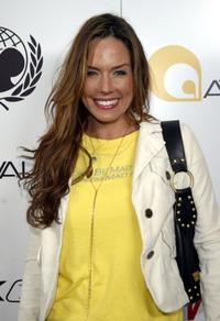 Krista Allen at the will.i.am Music Group and Reebok Tsunami Benefit concert.