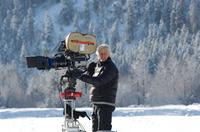 Producer Chris Carter on the set of