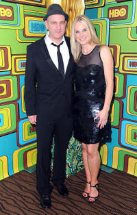 Mike O'Malley and Lisa O'Malley at the HBO's Post 2011 Golden Globe Awards party in California.