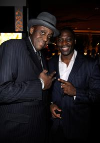 Bill Duke and Adewale Akinnuoye-Agbaje at the Fox Searchlight Oscar after party of