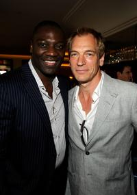 Adewale Akinnuoye-Agbaje and Julian Sands at the UK Film Council US Post Oscars Brunch.