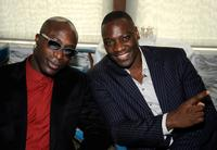 Ozwald Boateng and Adewale Akinnuoye-Agbaje at the UK Film Council US Post Oscars Brunch.