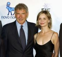 Harrison Ford and Calsita Flockhar at