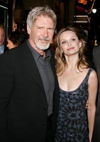 Harrison Ford and Calista Flockhart at the Hollywood premiere of