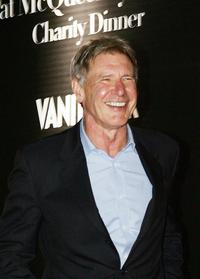Harrison Ford at Rome's Villa Giulia for a party organized by Vanity Fair.