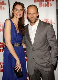 Saffron Burrows and Jason Statham at the New York premiere of