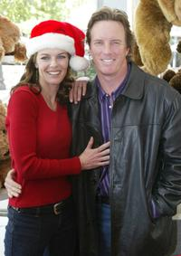 Susan Walters and Linden Ashby at the day long Toy Drive to benefit Toys for Tots.