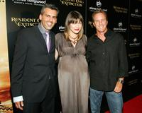 Oded Fehr, Milla Jovovich and Linden Ashby at the premiere of