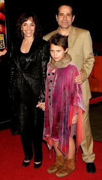 Brooke Adams, Tony Shalhoub and daughter Sophie at the premiere of