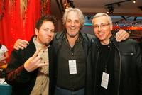 Ted Stryker, M.C. Gainey and Dr. Drew Pinsky at the premiere of