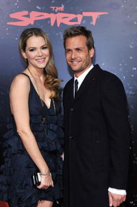 Jacinda Barrett and Gabriel Macht at the Los Angeles premiere of