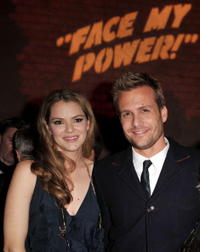 Jacinda Barrett and Gabriel Macht at the after party of the premiere of