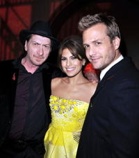 Director Frank Miller, Eva Mendes and Gabriel Macht at the premiere of