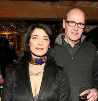 Hiam Abbass and Richard Jenkins at the dinner of