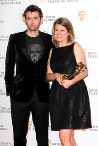 David Tennant and Jane Trantner at the BAFTA Television Awards 2009.