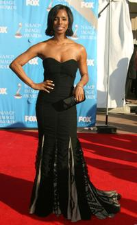 Tasha Smith at the 38th annual NAACP Image Awards.
