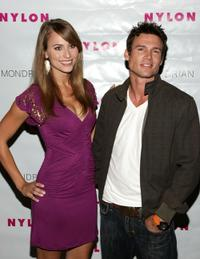Ethan Erickson and Guest at the Nylon Magazine's TV Issue Launch party.