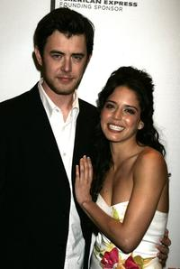 Colin Hanks and Ana Claudia Talancon at the premiere of