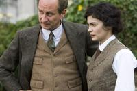 Benoit Poelvoorde as Etienne Balsan and Audrey Tautou as Coco Chanel in