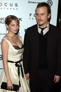 Heath Ledger and Michelle Williams at the premiere of