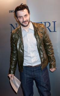 Filippo Timi at the 2009 Nastri D'Argento Nominations dinner party.