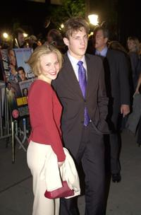 Kristin Booth and guest at the premiere of