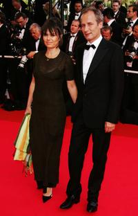 Hippolyte Girardot and Guest at the premiere of