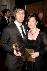 Paddy Considine and Guest at the after party of Orange British Academy Film Awards (BAFTAs).