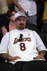 B-Real at the Game Five of the 2008 NBA Finals.