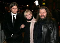 Crispin Glover and his parents Betty and Bruce Glover at the premiere of