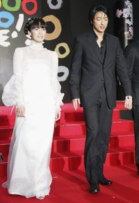 Miki Nakatani and Takao Osawa at the opening event of the 19th Tokyo International Film Festival.