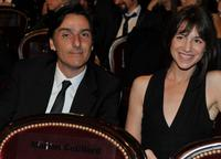 Yvan Attal and Charlotte Gainsbourg at the 35th Cesar Film Awards 2010.