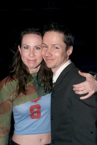 Miriam Shor and John Cameron Mitchell at the screening of