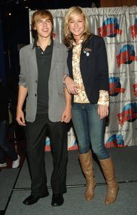 Cody Linley and Brie Larson at the New Line Cinema's