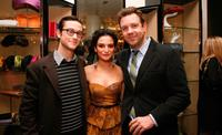 Joseph Gordon-Levitt, Jenny Slate and Jason Sudeikis at the unveiling of the 2009 Holiday Window Celebrating 35 Years of SNL.