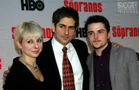 Victoria, Michael Imperioli and Robert Iler at the premiere of