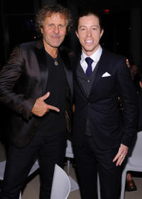 Designer Renzo Russo and Shaun White at the 2012 GQ Gentlemen's Ball in New York.