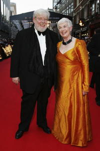 Richard Griffiths and guest at the Orange British Academy Film Awards at the Royal Opera House.